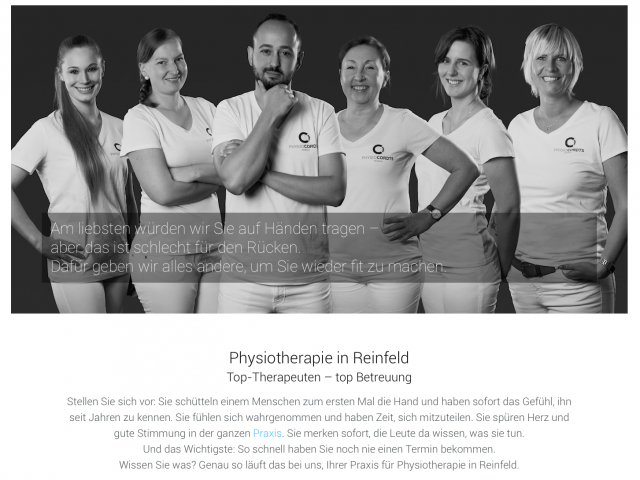 PHYSIO CORDTS - Website